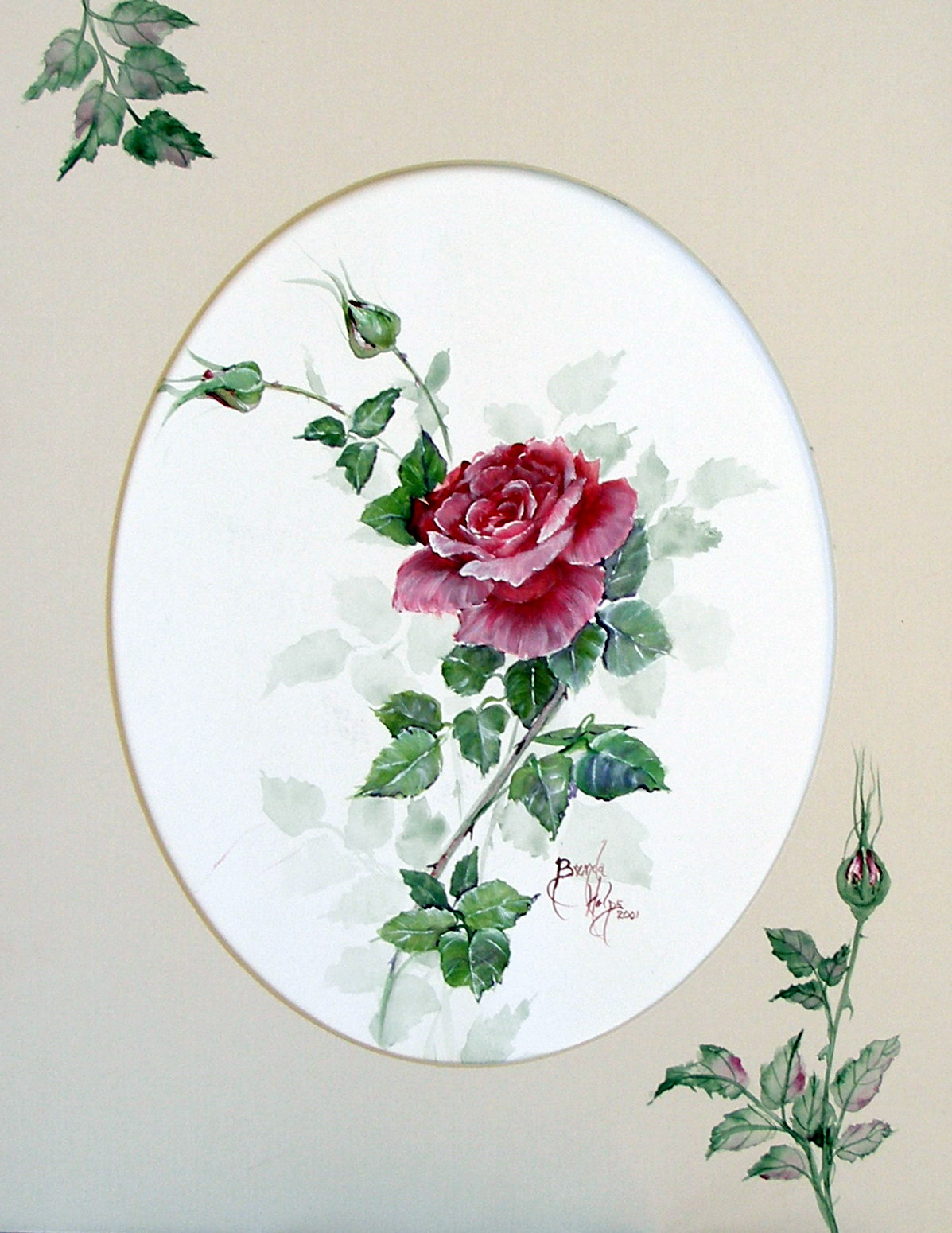 Roses flowers and still life paintings watercolor and oil for How to paint a rose watercolor